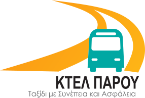 The logotype of Paros KTEL transportation services